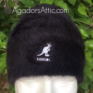 Kangol Furgora Skull Cap Natural Rabbit Fur Black